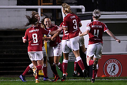 Ebony Salmon of Bristol City Women celebrates scoring her sides second goal of the game - Mandatory by-line: Ryan Hiscott/JMP - 14/11/2020 - FOOTBALL - Twerton Park - Bath, England - Bristol City Women v Tottenham Hotspur Women - Barclays FA Women's Super League
