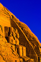 The Great Temple, Abu Simbel (archaeological site) on Lake Nasser, Egypt