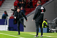 Atletico de Madrid's coach Diego Pablo Cholo Simeone have words with the fourth referee during La Liga match. December 16,2017. (ALTERPHOTOS/Acero)