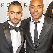 NLD/Amsterdam/20151028 - Premiere James Bondfilm Spectre, Everon Jackson Hooi en partner Jozua Augusto Suitela