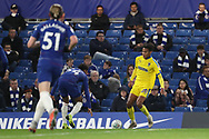AFC Wimbledon defender Toby Sibbick (20) running down the wing during the EFL Trophy match between U21 Chelsea and AFC Wimbledon at Stamford Bridge, London, England on 4 December 2018.