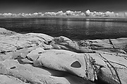 Rocky shoreline of Gulf of St. Lawrence, Cap-de-Bon-Desir, Quebec, Canada