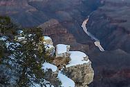Grand Canyon, snow, Mojave Point, Colorado River, West Rim, Arizona,