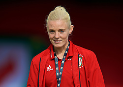 NEWPORT, WALES - Tuesday, June 12, 2018: Wales' captain Sophie Ingle before the FIFA Women's World Cup 2019 Qualifying Round Group 1 match between Wales and Russia at Newport Stadium. (Pic by David Rawcliffe/Propaganda)