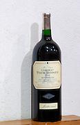 Magnum bottles of cuvee Marie-Claude Jardin Secret - the secret garden - 2001 Domaine La Tour Boisee. In Laure-Minervois. Minervois. Languedoc. France. Europe. Bottle.
