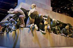 """© Licensed to London News Pictures 27/02/2011 London, UK. .The Ministry of Magic """"Magic is Might' statue inside The Warner Brothers Studio Tour, Leavesden, Herts where all 8 Harry Potter movies were made and opens to the public this week..Photo credit : Simon Jacobs/LNP"""