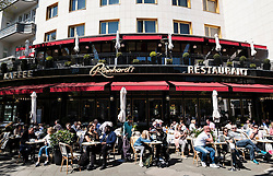 Exterior of famous Reinhard's cafe on Kurfurstendamm, Kudamm, in Charlottenburg, Berlin, Germany