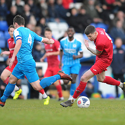 TELFORD COPYRIGHT MIKE SHERIDAN Matt Stenson of Telford (on loan from Solihull Moors) on the attack during the Vanarama Conference North fixture between AFC Telford United and Chester at the 1885 Arena Deva Stadium on Saturday, December 21, 2019.<br /> <br /> Picture credit: Mike Sheridan/Ultrapress<br /> <br /> MS201920-035
