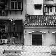 Old buildings as seen from a public courtyard area in Macau. Photo: © Rod Mountain