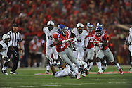 Mississippi Rebels wide receiver Damore'ea Stringfellow (3) catches a pass against Vanderbilt Commodores cornerback Taurean Ferguson (3) at Vaught-Hemingway Stadium at Ole Miss in Oxford, Miss. on Saturday, September 26, 2015. (AP Photo/Oxford Eagle, Bruce Newman)