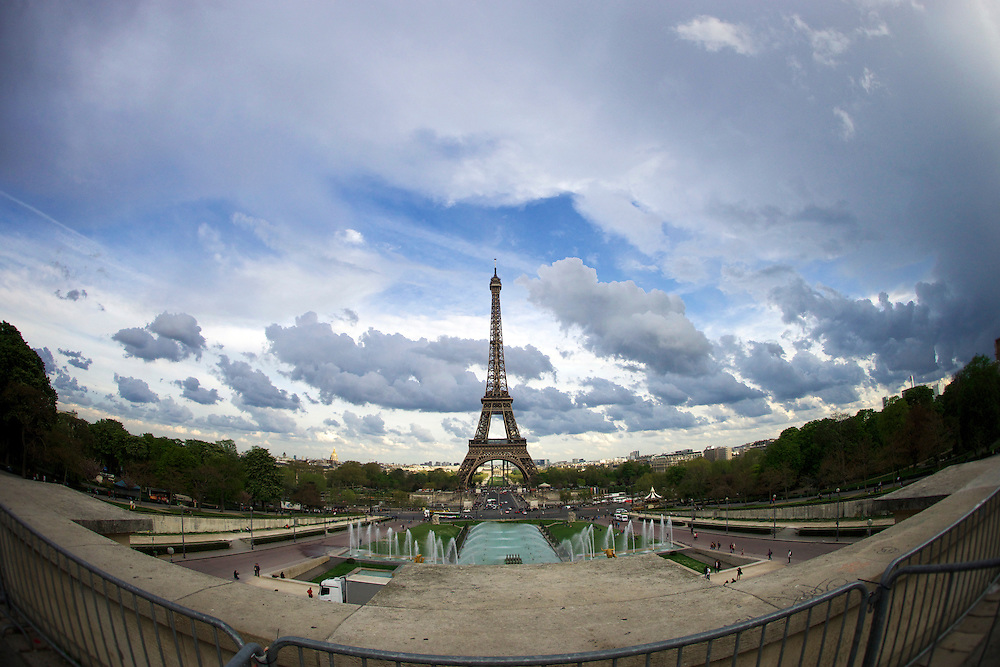 The Eiffel Tower is an iron lattice tower named after engineer Gustave Eiffel.  The tower was tallest man-made structure in the world from 1889 to 1930.