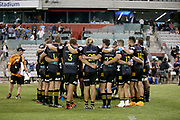 Chiefs huddle after the match. Waratahs vs Chiefs. Super Rugby round 6 match played at WIN Stadium, Wollongong NSW on Friday 6 March 2020. Photo Clay Cross / photosport.nz