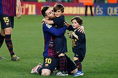 Barca Leo Messi celebrates the victory in La Liga in Barcelona - 29 April 2019