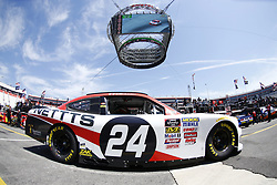 April 13, 2018 - Bristol, Tennessee, United States of America - April 13, 2018 - Bristol, Tennessee, USA: Kaz Grala (24) drives his car under Colossus TV during opening practice for the Fitzgerald Glider Kits 300 at Bristol Motor Speedway in Bristol, Tennessee. (Credit Image: © Chris Owens Asp Inc/ASP via ZUMA Wire)