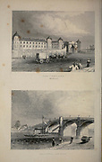 London Penitentiary (Millbank) [top] and Vauxhall Bridge [bottom] From the book Illustrated London, or a series of views in the British metropolis and its vicinity, engraved by Albert Henry Payne, from original drawings. The historical, topographical and miscellanious notices by Bicknell, W. I; Payne, A. H. (Albert Henry), 1812-1902 Published in London in 1846 by E.T. Brain & Co