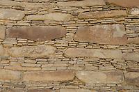Chacoan masonry at Chaco Culture National Historical Park, New Mexico