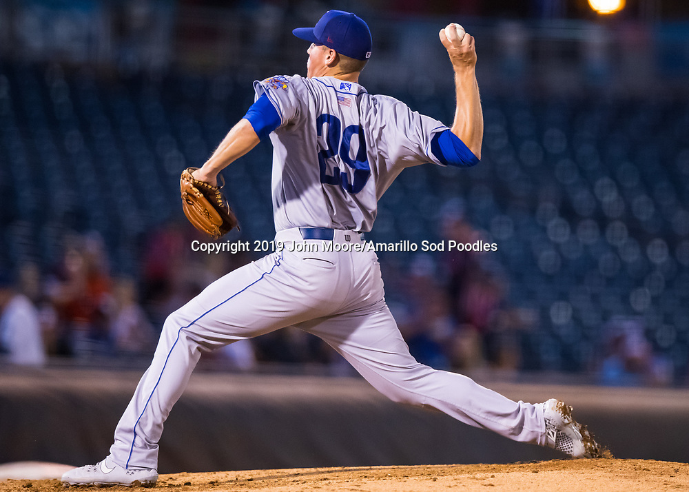 Amarillo Sod Poodles pitcher Kyle Lloyd (29) pitches against the Tulsa Drillers during the Texas League Championship on Friday, Sept. 13, 2019, at OneOK Field in Tulsa, Oklahoma. [Photo by John Moore/Amarillo Sod Poodles]