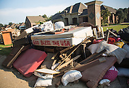 Contents removed from a flooded home in Walker, Louisana on Sept. 2, 2106 a couple of weeks after the thousand  year flood hit Southern Louisiana.