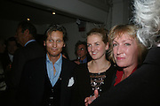 LORD EDWARD SOMERSET, FRANKIE SOMERSET  AND LADY SOMERSET, Dinner in aid of 'Action Trust For the Blind organised by Matthew Carr. 20th Century Theatre. Westbourne Gro. London. 26 September 2007. -DO NOT ARCHIVE-© Copyright Photograph by Dafydd Jones. 248 Clapham Rd. London SW9 0PZ. Tel 0207 820 0771. www.dafjones.com.