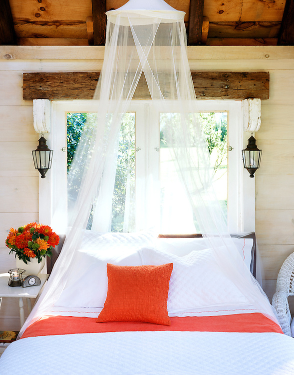 Bed in Guest cottage in rural Connecticut