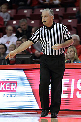 16 November 2014:  Referee Randy McCall during an NCAA non-conference game between the Utah State Aggies and the Illinois State Redbirds.  The Aggies win the competition 60-55 at Redbird Arena in Normal Illinois.