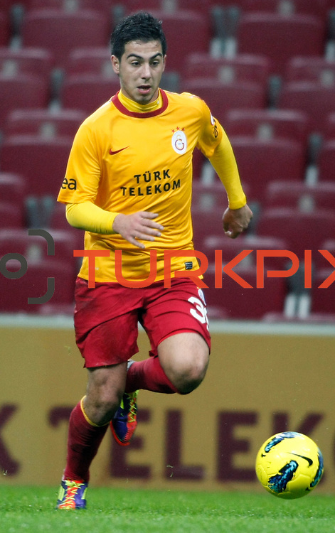 Galatasaray's Okan Derici during their Turkey Cup matchday 3 soccer match Galatasaray between AdanaDemirspor at the Turk Telekom Arena at Aslantepe in Istanbul Turkey on Tuesday 10 January 2012. Photo by TURKPIX