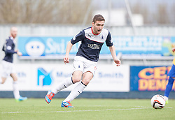 Falkirk's Luke Leahy.<br /> half time : Falkirk v Cowdenbeath, Scottish Championship game played today at The Falkirk Stadium.<br /> © Michael Schofield.
