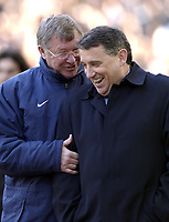 Copyright Sportsbeat. 0208 3926656<br />Picture: Henry Browne<br />Date: 15/03/2003<br />Aston Villa v Manchester United FA Barclaycard Premiership<br />Alex Ferguson and Graham Taylor chatting after the final whistle
