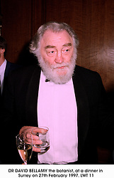 DR DAVID BELLAMY the botanist, at a dinner in Surrey on 27th February 1997.LWT 11