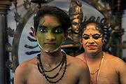 Kathakali dancers, Fort Cochin