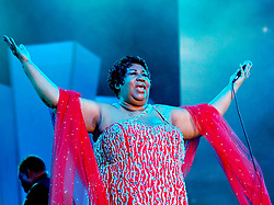 The Queen of Soul, Aretha Franklin, performing onstage at the Essence Music Festival in New Orleans, LA on July 1, 2005. Photo by Eric Waters/ABACAPRESS.COM