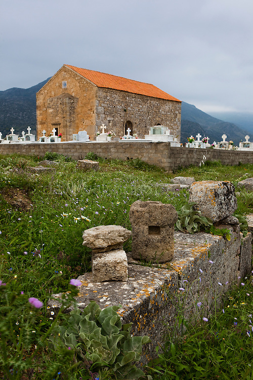 """The Ancient Sanctuary of Telesterion at the ancient Hellenic city of Polyrinia, Crete. The place name means """"many sheep"""" and it was the most fortified city in ancient Crete."""