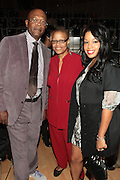 October 16, 2012-New York, NY : (L-R) Actor Samuel L. Jackson, Author Terry Williams and Recordng Artist Mashonda at the 3rd Annual National Action Network Triumph Awards held at Jazz at Lincoln Center on October 16, 2012 in New York City. The Triumph Awards were established by the National Action Network to recognize the contributions of humanitarians from all walks of life and to encourage future generations to drum majors for justice. (Terrence Jennings)