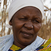 Women's committee member from Dadaab's Gambela community. These refugees from Ethiopia are now part of the Christian minority among Dadaab's largely Muslim population. North Eastern Province, Kenya.