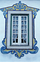 Window with azulejos at Cascais - Portugal