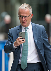 © Licensed to London News Pictures. 24/07/2020. London, UK. Former Barclays boss STEPHEN JONES arrives at the Rolls Building of the Royal Courts of Justice in London where businesswoman Amanda Staveley is currently in dispute with Barclay's Bank over a £2 billion loan to Qatari investors. Staveley's firm, PCP Capital Partners claims it is still owed £1. 5 billion in damages for its involvement in the deal. Photo credit: Ben Cawthra/LNP