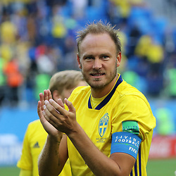 July 3, 2018 - Russia - July 03, 2018, St. Petersburg, FIFA World Cup 2018 Football, the playoff round. Football match of Sweden - Switzerland at the stadium of St. Petersburg. Player of the national team Andreas Granqvist. (Credit Image: © Russian Look via ZUMA Wire)