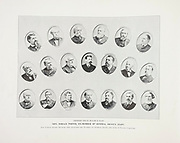 """General Horace Porter and United States Senators from The American Civil War book and Grant album : """"art immortelles"""" : a portfolio of half-tone reproductions from rare and costly photographs designed to perpetuate the memory of General Ulysses S. Grant, depicting scenes and incidents in connection with the Civil War Published  in Boston and New York by W. H. Allen in 1894"""
