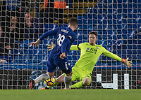 Football - 2017 / 2018 Premier League - Chelsea vs Crystal Palace<br /> <br /> Wayne Hennessey (Crystal Palace) saves from Oliver Giroud (Chelsea FC) at point blank range at Stamford Bridge <br /> <br /> COLORSPORT/DANIEL BEARHAM