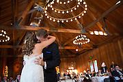 Kristin and Robert Hernandez celebrate their wedding at Roaring Camp Railroads in Felton, California, on September 27, 2014. (Stan Olszewski/SOSKIphoto)
