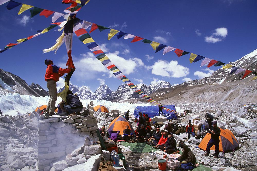 Puja festival at Everest base camp