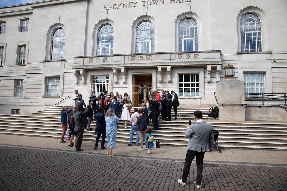 Wedding at Hackney Town Hall in Hackney, East London, England, United Kingdom.