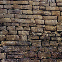 Stone wall at Chachapoyan fort at Cuelap pre-dates the Inca.