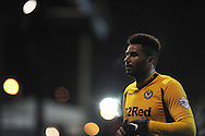 Newport county's Rene Howe looks on. Skybet football league 2 match, Newport county v AFC Wimbledon at Rodney Parade in Newport, South Wales on Tuesday 25th Feb 2014.<br /> pic by Andrew Orchard, Andrew Orchard sports photography.