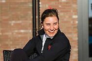 17-05-2015 NGF Competitie 2015, Hoofdklasse Heren - Dames Standaard - Finale, Golfsocieteit De Lage Vuursche, Den Dolder, Nederland. 17 mei. Dames Eindhovensche: Charlotte Puts , na de overwinning.