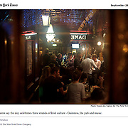 """Screengrab of """"Backlash Grows in Ireland to a Day That Celebrates Guinness"""" published in The New York Times"""