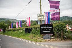 Riverside entrance, Howthelightgetsin Festival, Hay on Wye, Hereford, 2015
