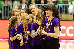 Children trophy ceremony during the basketball match between Akson Ilirija and Cinkarna Celje in Final Round of Pokal Članic 2018/19, on March 10, 2019 in Dvorana Tabor, Maribor, Slovenia. Photo by Blaž Weindorfer / Sportida