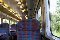 Inside train carraige