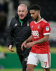 Nottingham Forest manager Mark Warburton with Liam Bridcutt after the game